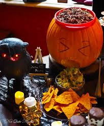 Puking Pumpkin Guacamole Dip by How To Throw An Epic Halloween Party Not Quite Nigella