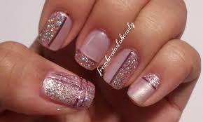 Nail Design Pink And Glitter Pink and gold nail designs images