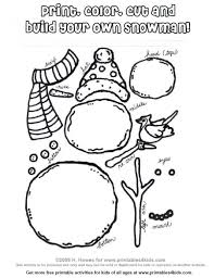 Dazzling Build Your Own Snowman Coloring Page Printable