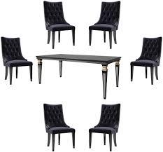 casa padrino luxus barock esszimmer set lila schwarz gold 1 esszimmertisch 6 esszimmerstühle esszimmermöbel im barockstil luxus qualität