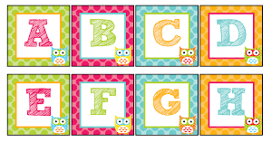 The Teaching Sweet Shoppe Owl Alphabet For Your Word Wall