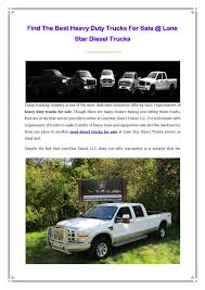 Calaméo - Find The Best Heavy Duty Trucks For Sale @ Lone Star ... What Is The Best Used Diesel Truck To Buy Image Trucks For Sale In Wv Resource Warrenton Select Diesel Truck Sales Dodge Cummins Ford 2001 Dodge Ram 2500 A Reliable Choice Miami Lakes San Antonio Performance Parts And Repair Duramax Craigslist Van Images Pickup 10 And Cars 2019 Ford F150 King Ranch Diesel Is Efficient Expensive Near Me All New Car Release Reviews Calamo Find Heavy Duty Lone Star For Sale Near Lexington Sc
