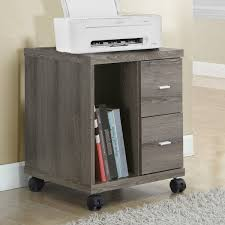 Monarch Specialties Inc Mobile Printer Stand with 2 Drawer