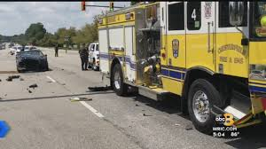 Car And Fire Truck Involved In Chesterfield Crash