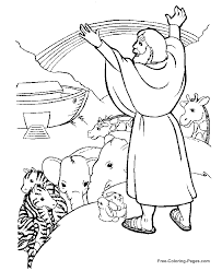 Printable Bible Story Coloring Page The Holy Family Flight Into