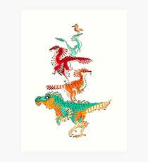 Feathered Dinosaur Art Prints