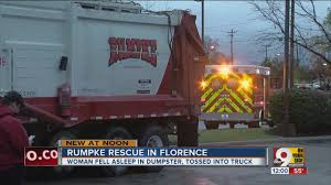 Woman Sleeping In Dumpster Trapped In Rumple Garbage Truck - YouTube