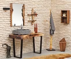 casa padrino designer badezimmer set naturfarben braun grau schwarz massivholz badezimmer möbel mit vulkanstein waschbecken luxus qualität