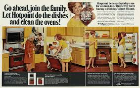 1968 Christmas Ad Hotpoint Kitchen Appliances Save The Holidays For Housewife 2 Page