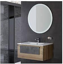 feridras mobile sospeso badezimmer 1 schublade industrial eiche 80 x 47 mit spiegel