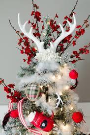 Pure White Antler Christmas Tree Topper