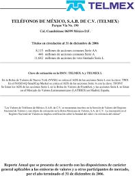 TELÉFONOS DE MÉXICO SAB DE CV TELMEX Parque Vía No 190 Col