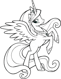 My Little Pony Twilight Sparkle Coloring Pages Princess Page Best