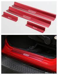 Aluminum Door Sills Guards Plates For 4 Door Jeep Wrangler 2007 2016 ...