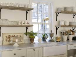 DIY Rustic Wood Shelves Open Kitchen