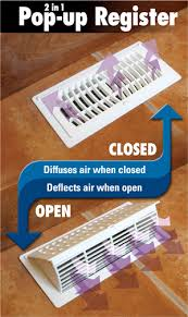 Ceiling Ac Vent Deflectors by Plastic Pop Up Register And Air Deflector Pamphlet Ideas