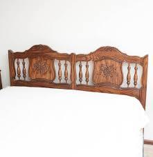 Wesley Allen Queen Headboards by Vintage Ethan Allen Carved Oak Queen Size Bed Ebth