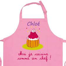 tablier cuisine pour enfant tablier enfant personnalisé je cuisine comme un chef