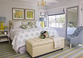 Ideas Bedroom Upholstered Pieces Like A Tufted Chair And An Ottoman Bench Have Clean Almost Modern Lines Vintage Bamboo Light Fixtures