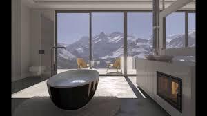 luxus schlafzimmer mit einem angeschlossenen offenen badezimmer