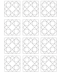 Play With Different Color Ways By First Coloring The Indiviudal Blocks Use Adjacent Pages Featuring Full Quilt Design Plenty Of Lines And