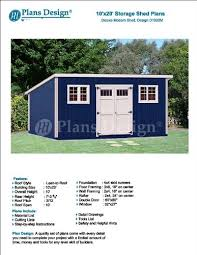 10x20 Storage Shed Kits by 10 U0027 X 20 U0027 Deluxe Back Yard Storage Shed Project Plans Do It