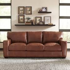 grey leather sofas you ll love wayfair