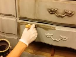 DIY How to Dark Wax Chalk Painted furniture