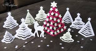 Hattifant 3D Christmas Paper Trees Origami Craft