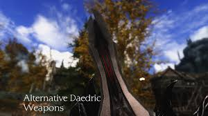 Skyrim Retexture Alternative Daedric Weapons