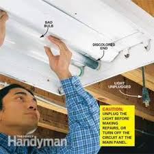 how to replace a fluorescent light bulb family handyman
