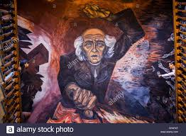 hidalgo mural painting by josé clemente orozco over the main