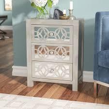 Hayworth Mirrored 3 Drawer Dresser by Willa Arlo Interiors Hubert Mirrored 3 Drawer Chest U0026 Reviews