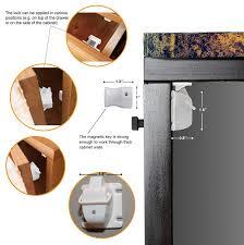 Drill In Cabinet Door Bumper Pads by Amazon Com Azenvita Child Safety Magnetic Cabinet Locks Hidden