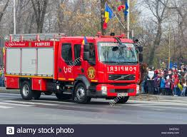 100 240 Truck Romanian Firefighters VOLVO FL Fire Extinguishing Truck Stock
