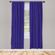 gardine fensterbehandlungen 2 panel set für wohnzimmer schlafzimmer dekor abakuhaus blau weiss nostalgische tupfen kaufen otto