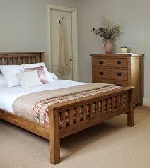 Rustic Solid Oak Bed