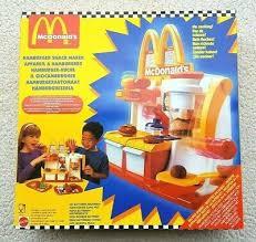 mcdonalds hamburger snack maker mattel 1994 mint brand