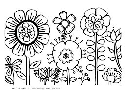 Free Printable Summer Fun Coloring Pages Pictures For Preschoolers Flower Print Adult Sheets Images Full