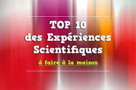 10 experience a faire a la maison top 10 des expériences scientifiques incroyable à voir