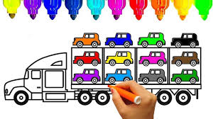 100 Construction Truck Coloring Pages New How To Draw Car Carrier