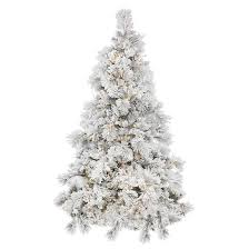 75 Slim Flocked Christmas Tree by 4 5ft Pre Lit Artificial Christmas Tree White Flocked Alberta