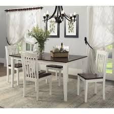 dorel living shiloh 5 piece rustic dining set walmart com