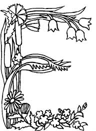 Flower Alphabet 5 Is A Coloring Page From BookLet Your Children Express Their Imagination When They Color The Will