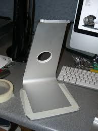 Vesa Desk Mount Imac by Portrait Monitor Easel Designed By Apple In California 5 Steps