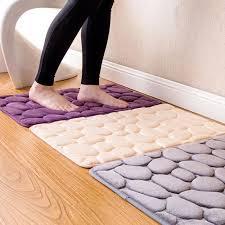 korallen fleece bad memory foam teppich kit wc bad nicht slip matten boden teppich set matratze für badezimmer dekor 40x60cm