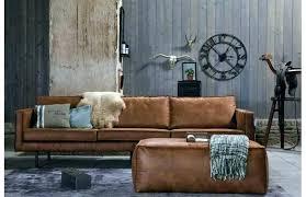 canapé cuir vieilli marron canape cuir vintage canape convertible aspect cuir vieilli