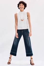 pilcro mid rise wide leg crop jeans cropped jeans wide legs and