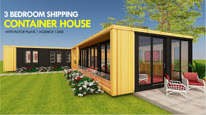 100 Shipping Container Apartment Plans MODBOX 1280L ID S13201280L 3 Bed 2 Baths 1280SFt