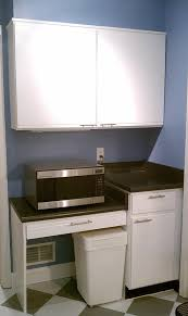 Using Kitchen Desk For Microwave